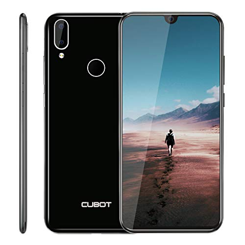 "Cubot R19 4G Smartphone ohne Vertrag Günstig Android 9.0 3GB RAM + 32GB ROM 5.71"" Waterdrop-Notch HD Display 13MP+2MP Dual Kamera Dual SIM Handy - Face/Fingerabdrucksensor (Schwarz)"