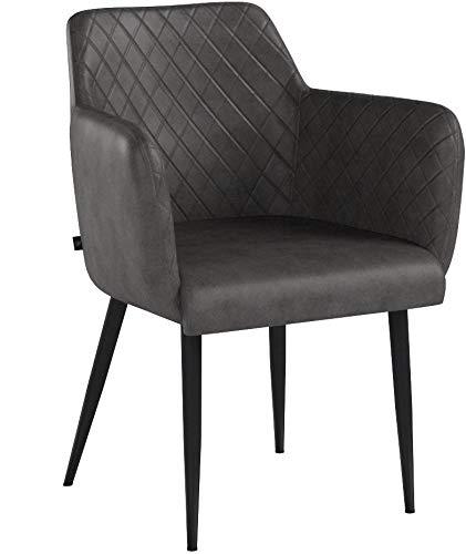 Damiware Rose Stuhl   Design Wohnzimmerstuhl Esszimmerstuhle Bürostuhl mit Stoffbezug   (Stone)