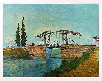 van Gogh Die Zugbruecke 1888 Poster Kunstdruck