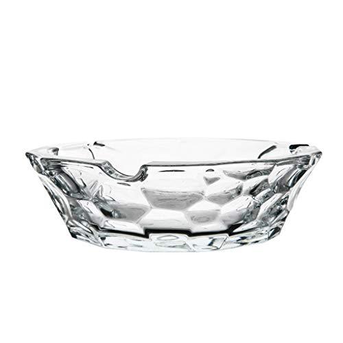 Cenicero VOne Cristal de Vidrio hogar Nido de Abeja Personalidad tamaño número Sala de Estar decoración de la Oficina (Tamaño : L(19.6 * 19.6 * 5.6cm))