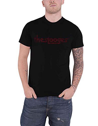 Iggy Pop & The Stooges T Shirt Vintage Distressed Logo Nue offiziell Herren