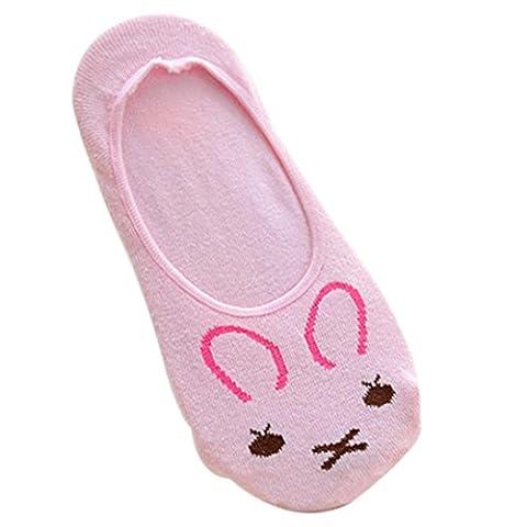Cotton Boat Socks, Transer® Girls Cartoon Lovely Socks Women Nonslip Loafers/Slippers Socks with Low Cut Ankle Socks (Colour C)