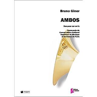 Méthodes et pédagogie EDITIONS FRANCOIS DHALMANN GINER B. - AMBOS - DUO DE CORS Cor