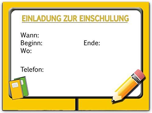 Einladungskarten zur Einschulung Schulanfang Schule Einladung Karten i-Dötzchen 20 Stück - 3