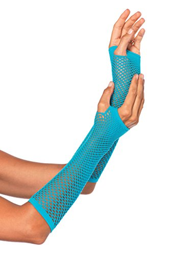 Leg Avenue 2024 - Fingerlose Handschuhe, neon blau (Punk Arm-stulpen)