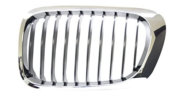 IPCW CWG-BM0607C1 Left Side//Driver Side Chrome//Black Replacement Grille