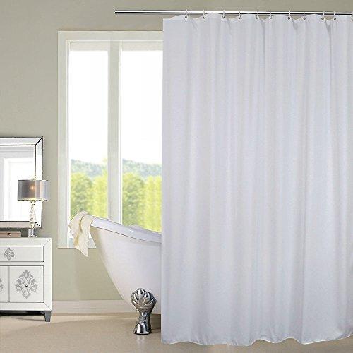 Duschvorhang,weiß Anti-Schimmel Wasserdicht und Schimmel resistent,48