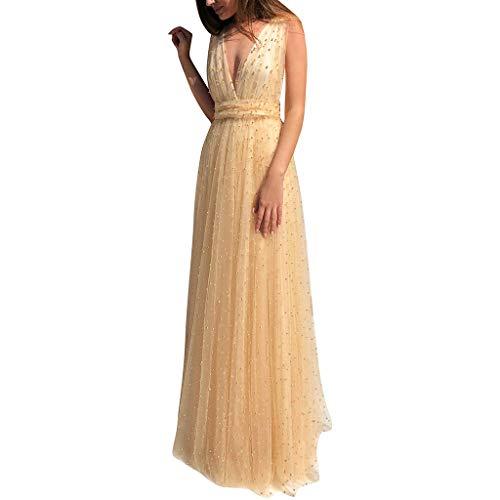 Crylee Winterkleid Cocktailkleid im eleganten Stil Hochzeitskleid Anzieh Cocktailkleid Tiefes V-Kleid Schlingenkleid Elegantes Kleid Prinzessinnenkleid Für alle Frauen geeignet -