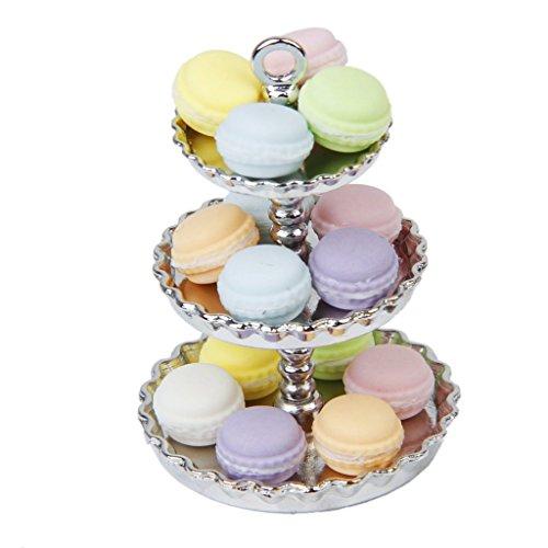 Nalmatoionme 1: 12casa delle bambole a strati, supporto per dessert in metallo (argento)