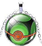 Inception Pro Infinite Pkmn - Collier Pokemon Go Pokeball Pokeball (Vert)