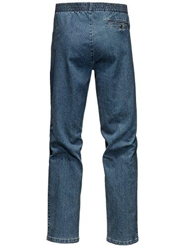 Herren Jeans mit Rundumgummizug Elastisch/Stretchanteil by BABISTA Schwarz