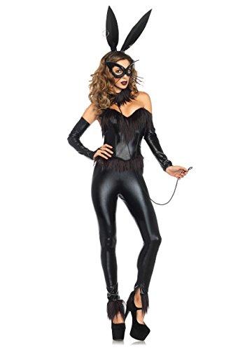 Leg Avenue 85410 - Bondage-Häschen-Damen kostüm, Größe Small (EUR (Bunny Rabbit Halloween Kostüme)