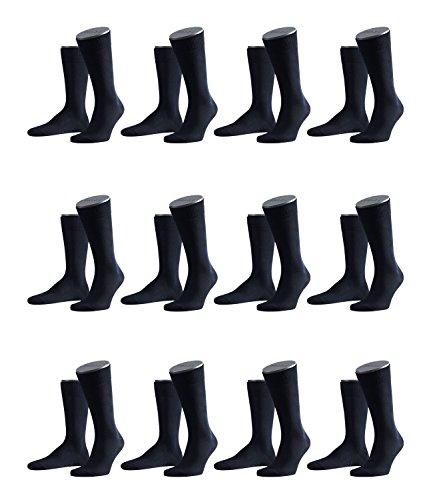 FALKE Herren Family Socken Strümpfe 14645 12er Pack, Sockengröße:43-46;Artikel:14645-6370 dark navy