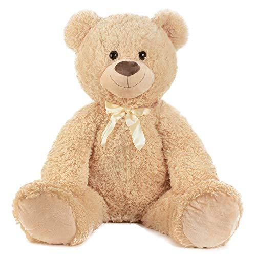 XXL Teddybär 1m Hellbraun Kuschelbär Kuscheltier Stofftier Bär Teddy