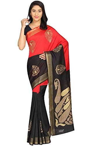 Great Indian Sale sarees for women party wear Clothing Bhagalpuri Silk Fabric Sari With Unstitched Blouse Piece ( RS147