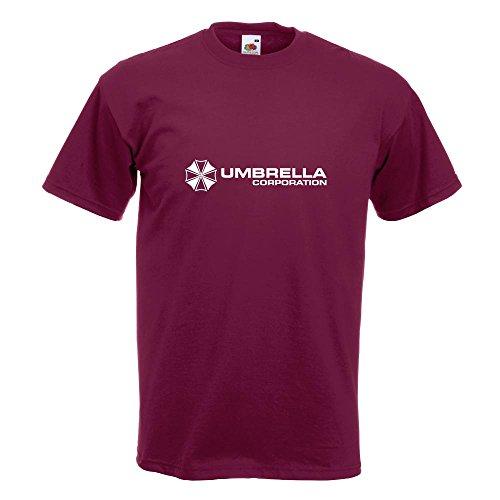 KIWISTAR - Umbrella Corperation T-Shirt in 15 verschiedenen Farben - Herren Funshirt bedruckt Design Sprüche Spruch Motive Oberteil Baumwolle Print Größe S M L XL XXL Burgund