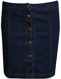 PILOT® Women's Button Front Mini Skirt in Denim