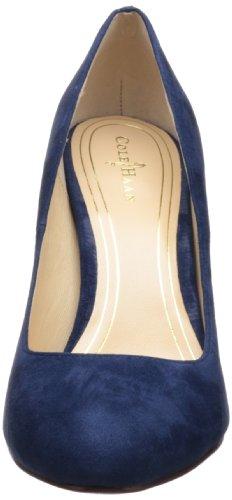 Cole Haan Chelsea haut Flared talon pompe Blazer Blue Suede Patent
