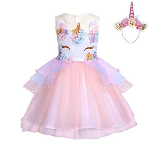 FONLAM Vestido Fiesta Princesa Niña Bebé