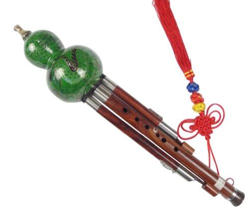 flute-chinoise-cloisonnee-hulusi-du-bois-sandal-avec-3-octaves-108g-coffret-guide-a-jouer