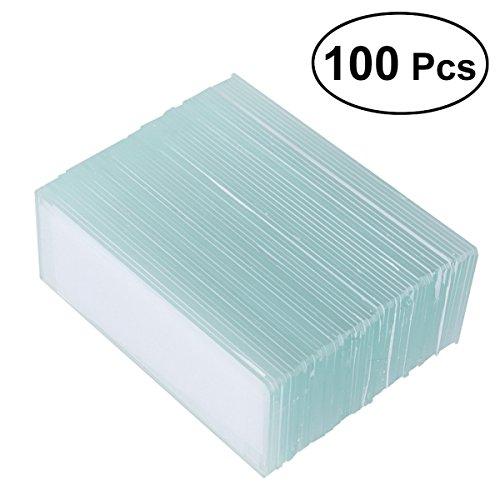 UKCOCO 100 Stück Mikroskop Blank Rutschen 100 Stück Quadrat Cover Slips Cover Glas