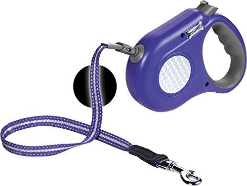 ZOOFARI® Hundeleine, reflektierend (violett grau, ca. 8 m/bis max. 35 kg) (Hundeleine Reflektierend Versenkbare)