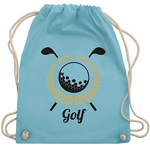Golf - Lorbeerkanz Golfschläger Golfball - Unisize - Hellblau - WM110 - Turnbeutel & Gym Bag