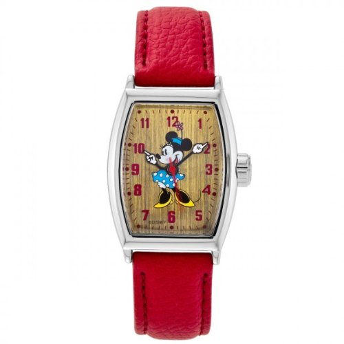 Disney Classic By Ingersoll Ladies Watch 25646 with Minnie Mouse Dial and Red Strap