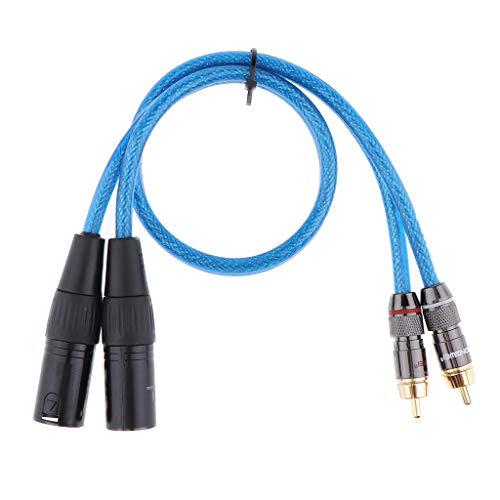 H HILABEE 2 XLR Stecker Auf 2 Cinch Stecker HiFi Audio Patch Verlängerungskabel - 0,5m Cinch-audio-patch-kabel