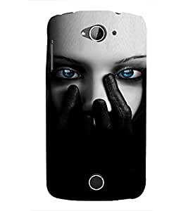 EPICCASE Scary Girl face Mobile Back Case Cover For Acer Liquid Z530 (Designer Case)