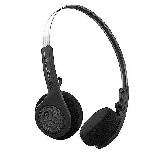 JLab Rewind Wireless Retro On-Ear-Bluetooth-Kopfhörer schwarz (Audio Wireless Kopfhörer)