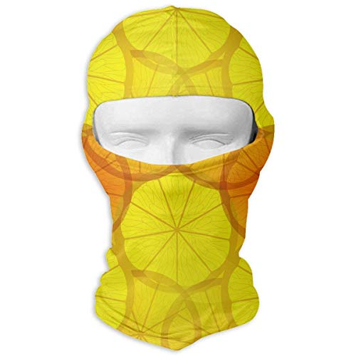 Miedhki Transparent Yellow Lemons Men Women Balaclava Neck Hood Full Face Mask Hat Sunscreen Windproof Breathable Quick Drying