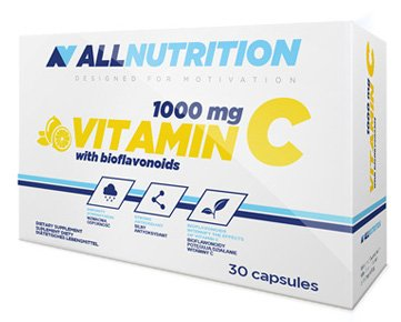 ALLNUTRITION Vitamin C 1000mg + bioflaw Vitamine Mineralien Multivitamin Nahrungsergänzungsmittel Bodybuilding 30 caps