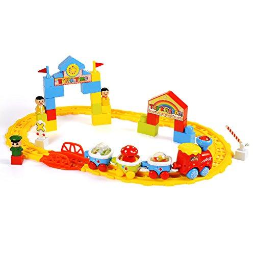 Baoli Juego clásico del tren del juguete - pistas y accesorios, coches del...