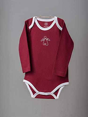 Organic by Feldman Unisex Baby Body Langarm aus Bio Baumwolle, GOTS Zertifiziert, Schutzengel Rot, (86/92) - 3