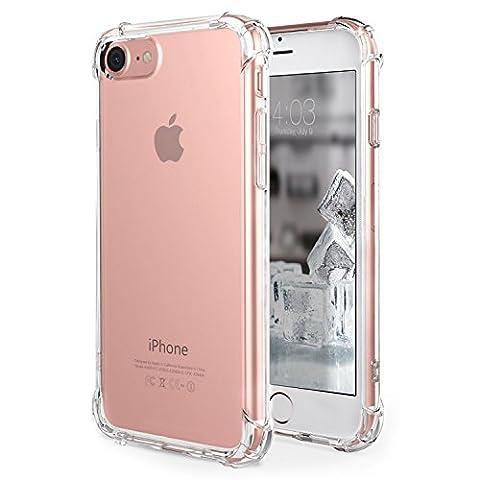 Coque iPhone 7, [Coussin d'air] [4 Coins Shock-Absorption] Pare-chocs Anti-rayures Soft TPU Etui de Protection pour Apple iPhone 7 4.7 Pouces 2016-Clair