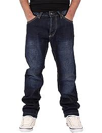 Peviani - Jeans - Droit - Homme bleu noir foncé
