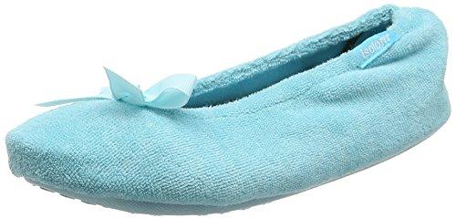 isotoner-women-terry-ballerina-closed-back-blue-aqua-s-36-37-eu