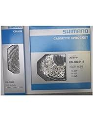 Shimano Verschleißset Kette HG 40 + Kassette HG 41, 8-fach, HG40 HG41 11-32 Zähne