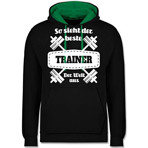 Sonstige Berufe - So Sieht der Beste Trainer der Welt aus - XXL - Schwarz/Grün - JH003 - Kontrast Hoodie