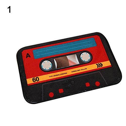 Pengyu Retro Creative Cassette - Felpudo de Cocina (40 x 60 cm), 1#, Talla única