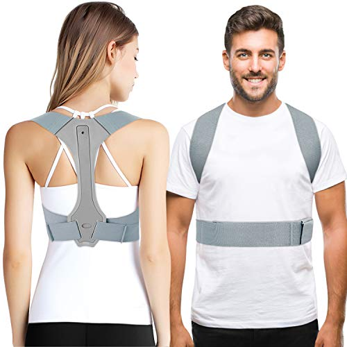 Haltungskorrektur rücken herren, Geradehalter Schulter Rückenstütze, ideal zur Therapie für haltungsbedingte Nacken, Rücken und Schulterschmerzen für Damen und Herren, Posture Corrector Men Women