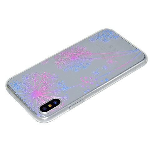 iPhone X Handyhülle,iPhone X Silikon Hülle,Cozy Hut 3D Handyhülle Muster Case Cover Für iPhone X Liquid Crystal Ultra Dünn Crystal Clear Transparent Handyhülle Soft Cover Premium Anti-Scratch TPU Durc Pu Gongying Träume