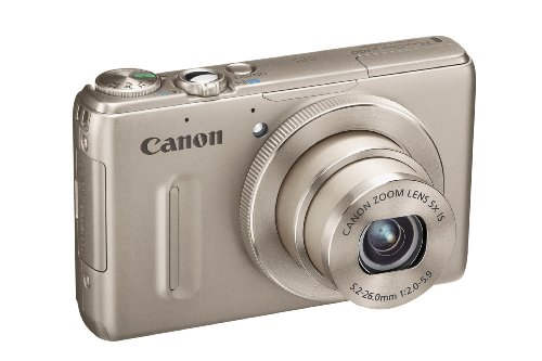 Canon Powershot S100 Digitalkamera (12 MP, 5-fach opt. Zoom, 7,7cm (3 Zoll) Display, Full-HD Video, GPS, bildstabilisiert) silber (Canon S100)