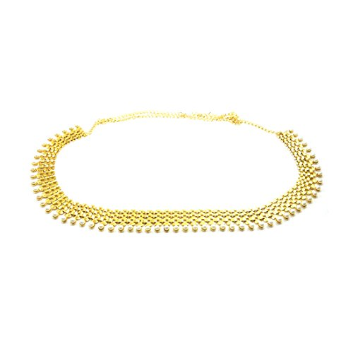 Luxaim Stylish Gold-Plated Kamabandh/Waist Belt Chain/Belly hip Chain for Girls, Women, Ladies,...