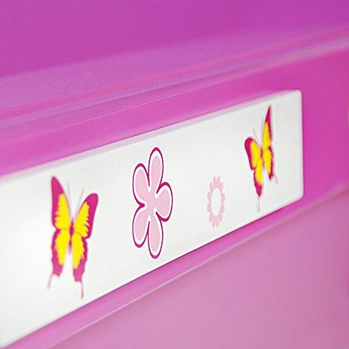 kinderbett jugendbett butterfly jugendliege m dchenbett m dchen juniorbett autobett auto. Black Bedroom Furniture Sets. Home Design Ideas