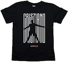Maglietta T-Shirt Maglia Cristiano Ronaldo CR7 Juventus Juve Modello Uomo o Donna Colore Nero