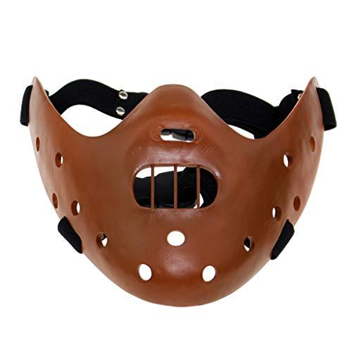 K-Flame Halloween Party Cosplay Kostüm Prop Erwachsene Hannibal Harz Maske Herren Kostüm Zubehör Masken One Size,Coffee,20 * 20 * 9cm (Für Comic-figuren Halloween-kostüme)