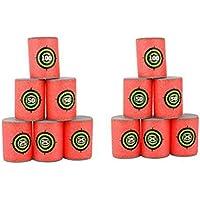 VORCOOL - Juego de 12 latas de espuma suave para pistolas Nerf