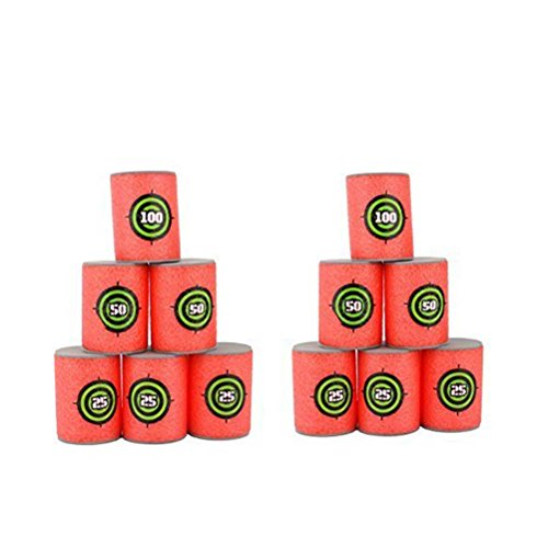 oulii-soft-foam-target-cans-for-nerf-guns-games-christmas-birthday-gift-for-children-pack-of-12